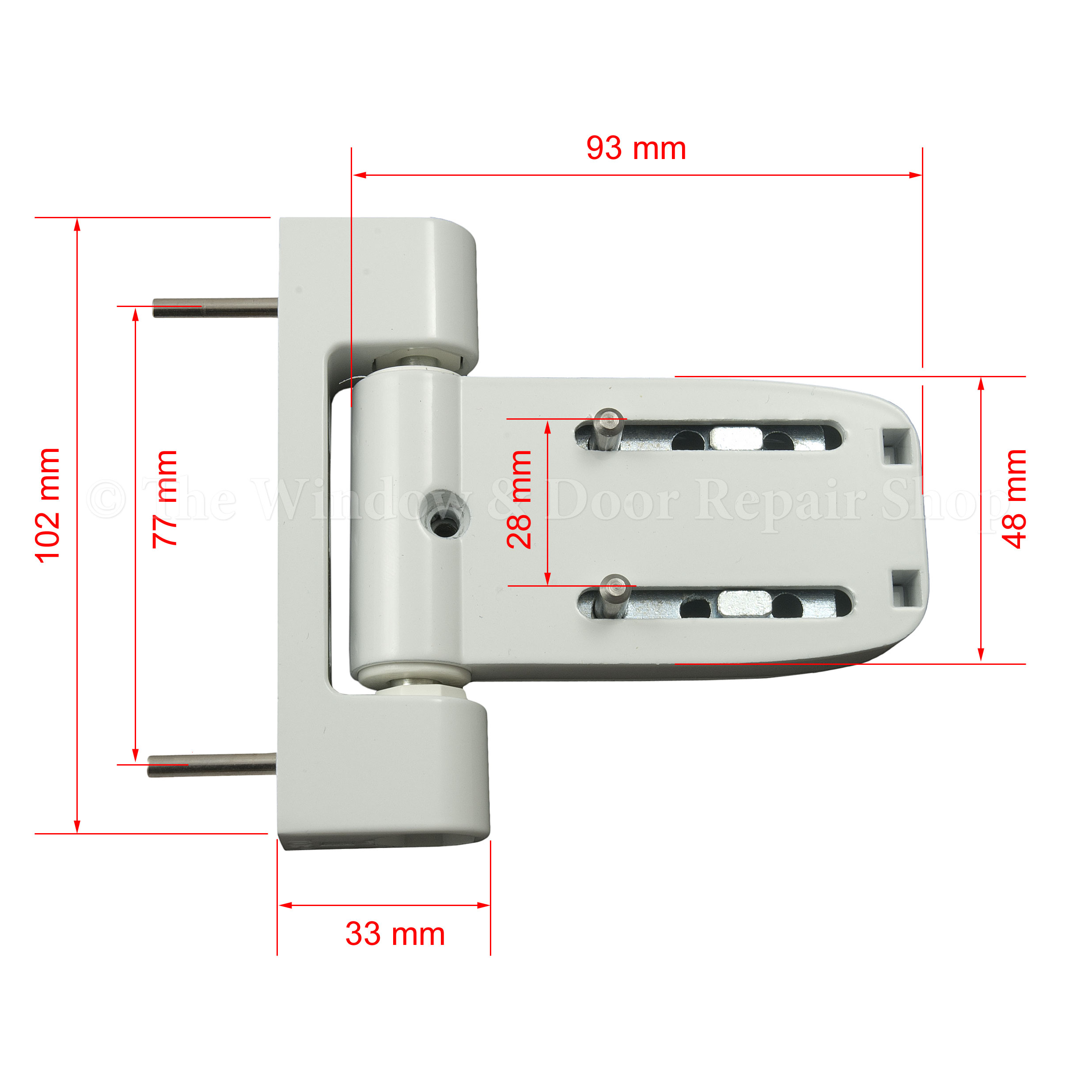 White Paddock Neon 3d T Flag Door Hinge By Yale The
