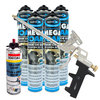 Expanding Foam Kit: Professional Foam Gun, 5 Cans & Gun Cleaner