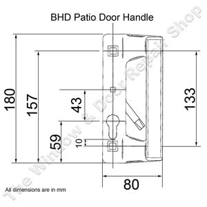 Black Bhd Patio Door Handle Set Schlegel 43pz The